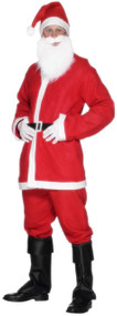 Mens Santa Suit Fancy Dress Costume