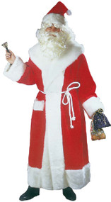 Mens Deluxe Santa Gown Fancy Dress Costume
