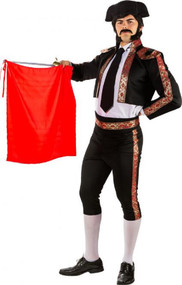 Mens Deluxe Black Matador Fancy Dress Costume