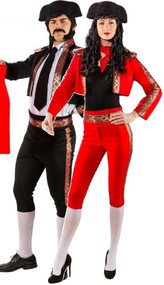 Couples Deluxe Matador Fancy Dress Costume