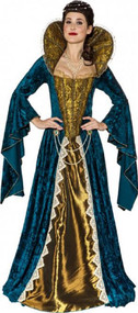 Ladies Deluxe Anne Boleyn Fancy Dress Costume
