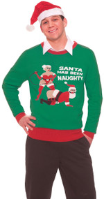 Adults Bondage Santa Novelty Christmas Jumper