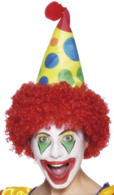 Adults Clown Hat & Wig