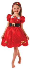 Girls Festive Miss Santa Fancy Dress Costume