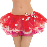 Ladies Candy Cane Fancy Dress Tutu