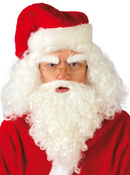 Mens Santa Beard And Wig Fancy Dress Kit