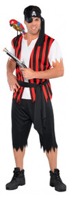 Mens Pirate Scoundrel Fancy Dress Costume
