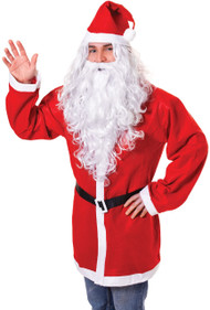 Men's Extra Long Santa Fancy Dress Wig & Beard