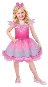 Girls Barbie Pink Diamond Princess Fancy Dress Costume