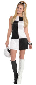 Ladies 60s Mod Fancy Dress Costume