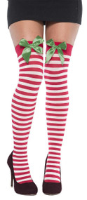 Ladies Festive Candy Cane Stockings