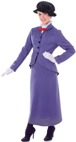 Ladies Perfect Victorian Nanny Fancy Dress Costume