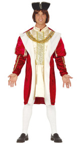Mens Regal King Fancy Dress Costume