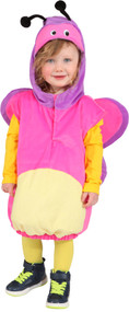 Toddler Girls Pink Butterfly Fancy Dress Costume