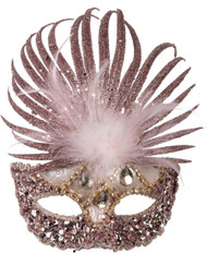 Ladies Rose Gold Masquerade Mask