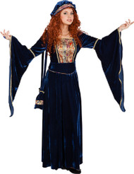 Ladie Deluxe Renaissance Fancy Dress Costume