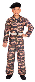 Boys Camo Soldier Fancy Dress Costume