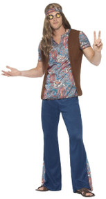 Mens 60s Hippy Fancy Dress Costume