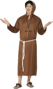 Mens Classic Monk Fancy Dress Costume