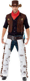 Mens Western Cowboy Fancy Dress Costume
