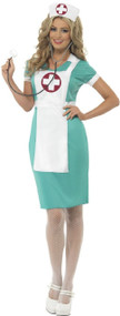 Ladies Emergency Nurse Fancy Dress Costume