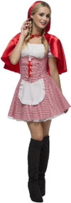Ladies Sultry Red Riding Hood Fancy Dress Costume