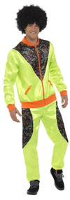 Mens Green Shell Suit Fancy Dress Costume