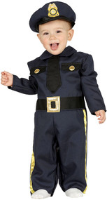 Baby Police Officer Fancy Dress Costume