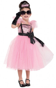 Girls Glam Princess Diva Fancy Dress Costume