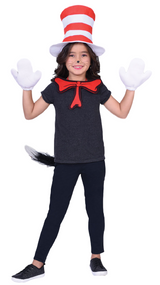Childs Cat In The Hat Fancy Dress Kit
