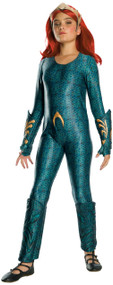 Girls Deluxe Mera Fancy Dress Costume
