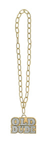 Mens Old Dude Gold Chain Accessory