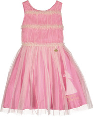 Girls Luxury Disney Boutique Aurora Ruffle Occasion Dress