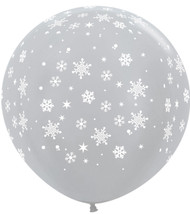 "Large 36"" Silver Snowflake Balloons"