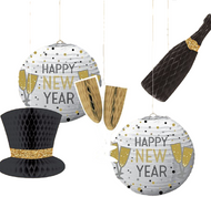 5 Piece New Year's Eve Happy New Year Lanterns