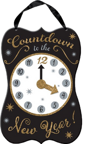 New Year's Eve Count down clock decoration