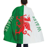 Adult Wales Flag Body Cape