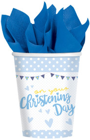 Baby Boys Christening Party Cups
