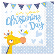 Baby Boys Christening Party Napkins