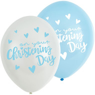 Baby Boys Christening Party Balloons