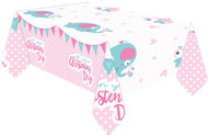 Baby Girls Christening Party Tablecover