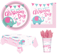 Complete Girls Christening Party Tableware Set