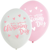 Baby Girls Christening Party Balloons