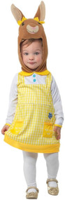 Girls Deluxe Cottontail Bunny Fancy Dress Costume