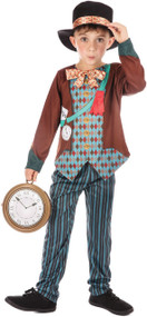 Boys Crazy Hatter Fancy Dress Costume