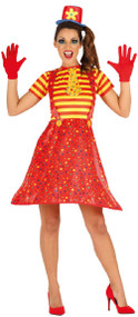 Ladies Crazy Clown Fancy Dres Costume