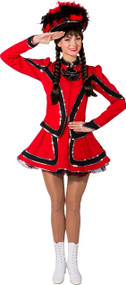 Ladies Deluxe Red Carnival Fancy Dress Costume