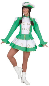 Ladies Deluxe Green Carnival Fancy Dress Costume
