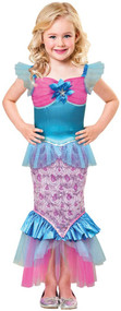 Girls Sparkle Mermaid Fancy Dress Costume