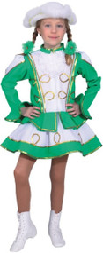 Girls Deluxe Green Carnival Fancy Dress Costume